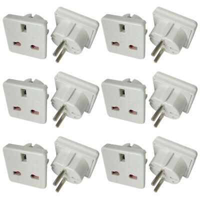 [12 PACK] UK to China Egypt Greece India Morocco Pakistan Plug Travel Adapter