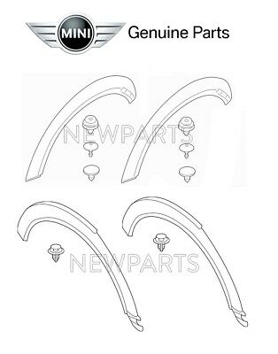 Mini Cooper Clip For Wheel Arch Trim Rear Set Of 5 Genuine 51 13 7