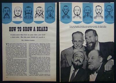 How To Grow a Beard 1956 pictorial Types History Famous beards