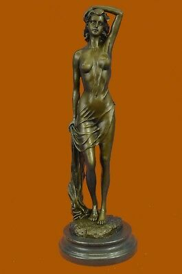 Close Out Nude Temptress Bronze Sculpture Hot Cast Marble Base Lost Wax