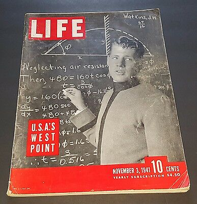 November 3, 1941 LIFE Magazine History WWII + FREE SHIPPING Nov. 11 2 1 4 5 6 7