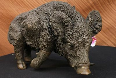 Close Out Chinese Copper Bronze Carved wild boar Pig Statue Figurine Figure