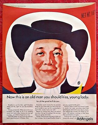 1965 Quaker Oats This Is An Old Man You Should Kiss Young Lady ad