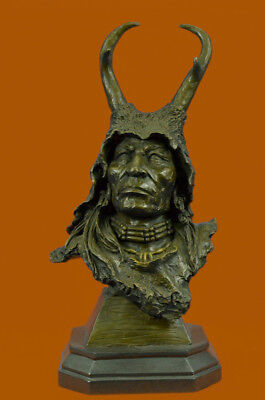 Close Out Dressed Viking  Bronze Sculpture Warrior Figurine Marble Base Sale