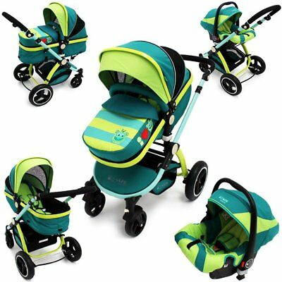 iSafe 3in1 Limited Edition Luxury Pram Pushchair Travel System With Carseat