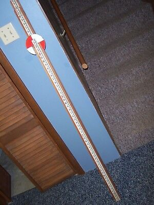 Vintage Wood Philadelphia Measuring Rod Leveling Stick