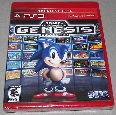 Sonic's Ultimate Genesis Collection for Playstation 3 Brand New! Factory Sealed!