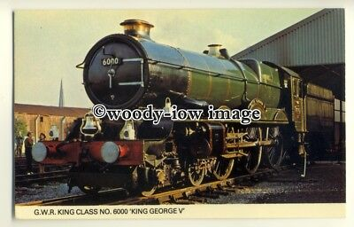 "ry1274 - G.W.R. King Class No.6000, ""King George V""- postcard"
