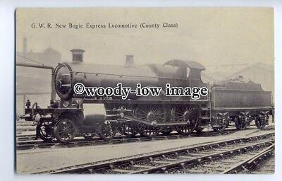 "ry1282 - G.W.R. ""County of Middlesex"" No.3473 New Bogie Express - postcard"