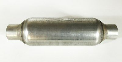"Dura-Flow Series Muffler 5.00"" Round, with a 13.00"" Body 19.50"" Long 2.00"" Inlet"