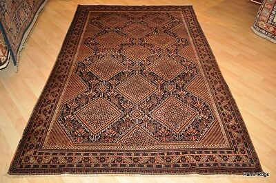 Antique 5' x 8' one of a kind Fine collectible oriental rug, Persian, tribal rug
