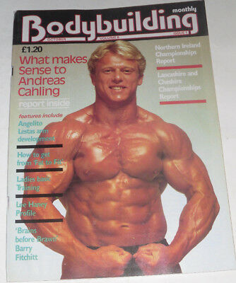 BODYBUILDING Oct 1984-LEE HANEY/ANDREAS CAHLING/ANGELITO LESTA/BARRY FITCHITT