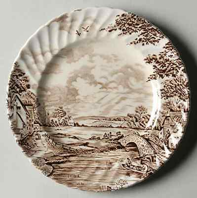 Ridgway (Ridgways) COUNTRY DAYS BROWN Bread & Butter Plate 611006