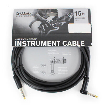 Brand New D'Addario/Planet Waves American Stage 15 ft. Instrument Cable RA-Str