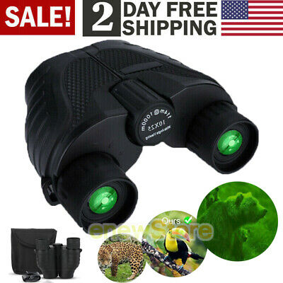 10x25 Zoom Day Night Vision Outdoor Travel HD Binoculars Hunting Telescope+Case