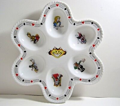 ALICE IN WONDERLAND Cafe Deviled Egg Dish Plate Characters Cheshire Cat Cardew