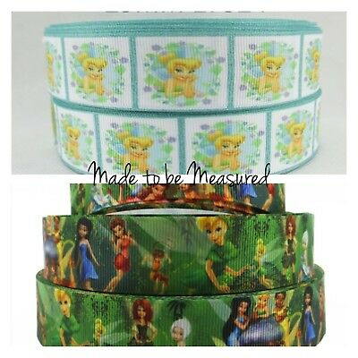 Grosgrain Ribbon - 1 Inch - 25 mm - Print by the Metre - Tinkerbell