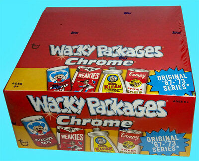 Topps WACKY PACKAGES CHROME Factory Sealed HOBBY RETAIL BOX 2014 24 packs NEW