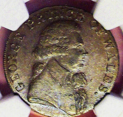 "1790's NGC MS 63 BN ""GEORGE PRINCE OF WALES"" GREAT BRITAIN HALF PENNY!GEORGE IV"