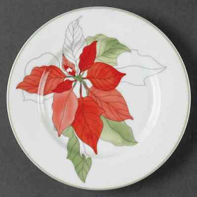 Block POINSETTIA Bread & Butter Plate 35687
