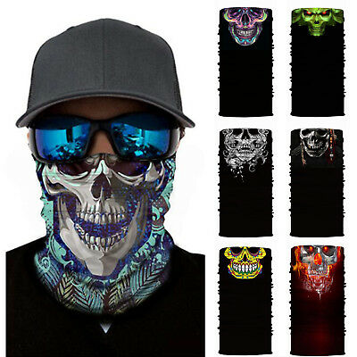 Skull Motorcycle Face Mask Bandanas Cycling Ski Neck Outdoor Balaclava Headband