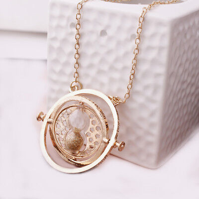Harry Potter Time Turner Necklace Hermione Granger Rotating Hourglass USA SELLER