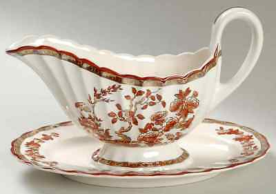 Spode INDIAN TREE Gravy Boat & Underplate 681814