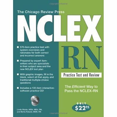 The Chicago Review Press NCLEX-RN Practice Test and Rev - Paperback NEW Waide, L