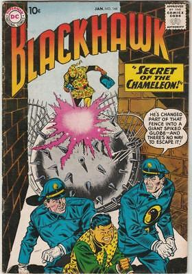 Blackhawk  # 144  strict  VF+  1st   appearance  The Chameleon!