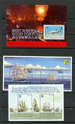 British Indian Ocean Territory Scott 160a,217,303 Mint NH (Catalog Val. $29.50)
