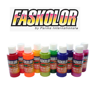 Parma Faskolor Airbrush Lexan Paints Limited colours Reduced to Clear 60ml Pot