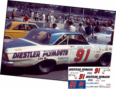 CD_1566 #91 Gordon Johncock  USAC Plymouth   1:24 scale decals