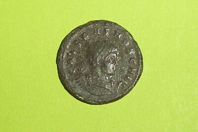 Ancient ROMAN COIN two captives CRISPUS 316 AD-326 AD military standard tool old
