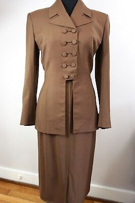 ~ IRENE ~ Lentz Vintage 40s Suit - STUNNING DETAIL - Waist 28 - The GOOD STUFF!