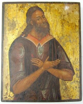 ANTIQUE 19th CENTURY GREEK ICON OF THE SAINT