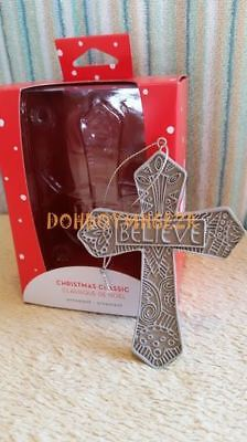 Carlton/American Greetings 2017 Christmas Classic Believe Cross Ornament