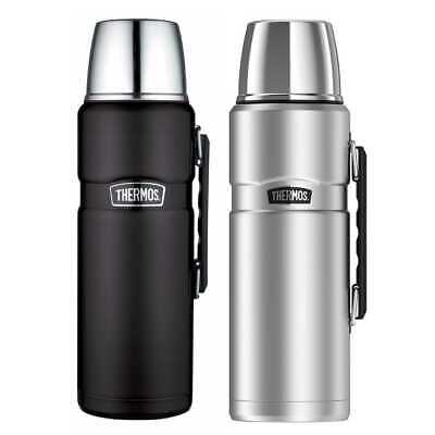 Thermos Stainless King 68 Ounce Vacuum Insulated Beverage Bottle 2PK