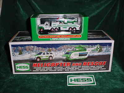 ** Trucks 2012 Hess Helicopter And Rescue & The 2012 Miniature  Truck & Airplane
