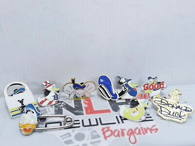 Lot of 9 Donald Duck Themed Disney Trading Pins