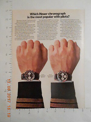 1967 Heuer watch Autavia GMT AD NY National Airlines pilot stewardess Florida