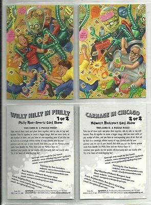 "2002 LOT OF 2 Mars Attacks PHILLY & MIDWEST NON-SPORT SHOWS ""Promo Cards"" (1-2)"
