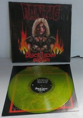 Danzig Black Laden Crown Neon Yellow Vinyl LP Record new