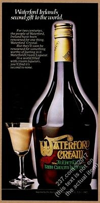 1982 Waterford Cream Irish cream liqueur bottle photo vintage print ad