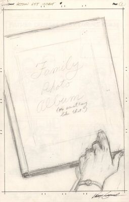 Action Comics #655 7 Page Pencil Layouts - Ma Kent's Album 1990 by Kerry Gammill