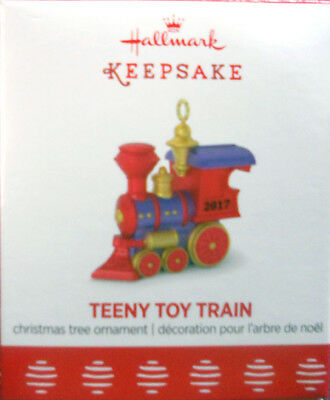 "2017 Hallmark Miniature Ornament ~  ""teeny Toy Train"""