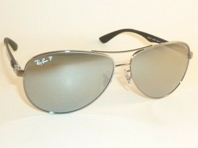 9722828a06 NEW RAY BAN Sunglasses TECH Gunmetal RB 8313 004 K6 Polarized Silver Mirror  61mm