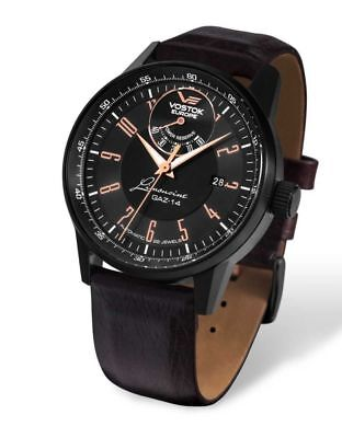 Vostok Europe GAZ14 Limousine Automatic Watch 560c520 - Leather Band - 43 mm