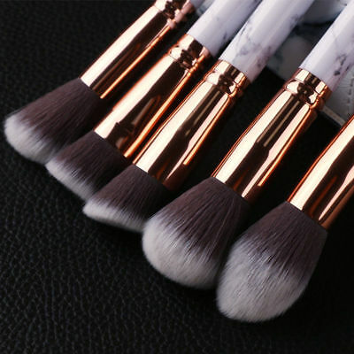 10Pc Makeup Brushes Tool Set Cosmetic Eyeshadow Face Powder Foundation Lip Brush