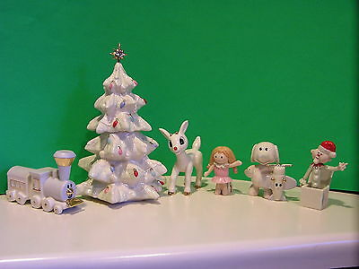 LENOX A MISFIT TOYS CHRISTMAS with RUDOLPH 6 piece sculpture set NEW in BOX COA
