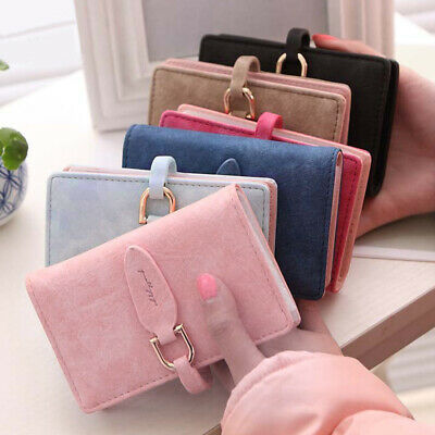 Women's Girls Cute Pouch ID Credit Card Wallet Holder Organizer Case Box Pocket
